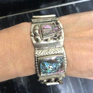 Beautiful Silver Aztec Bracelet